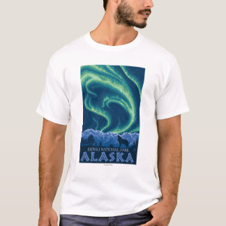 Northern Lights - Denali National Park, Alaska T-Shirt