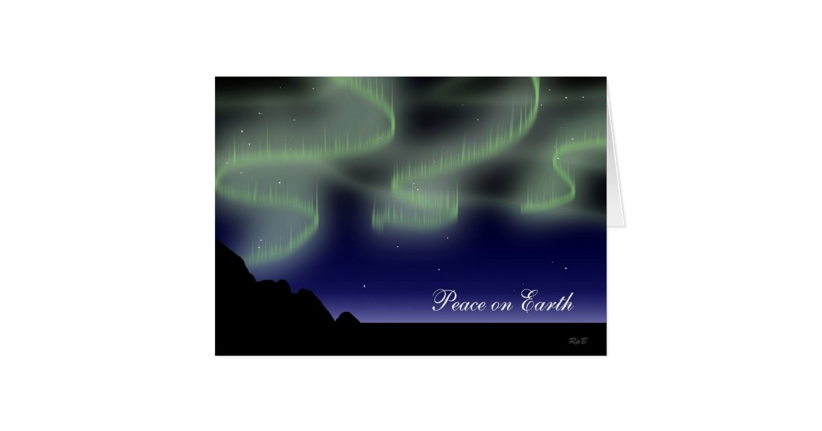 Northern Lights Greeting Card Zazzle Com