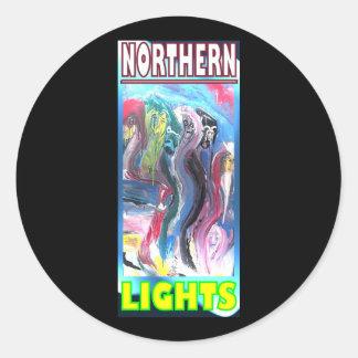 NORTHERN LIGHTS HYBRID CLASSIC ROUND STICKER