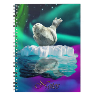 Northern Lights, Ice Floe & Seal Wildlife Notebook