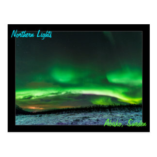 Northern Lights in Abisko Sweden Postcard