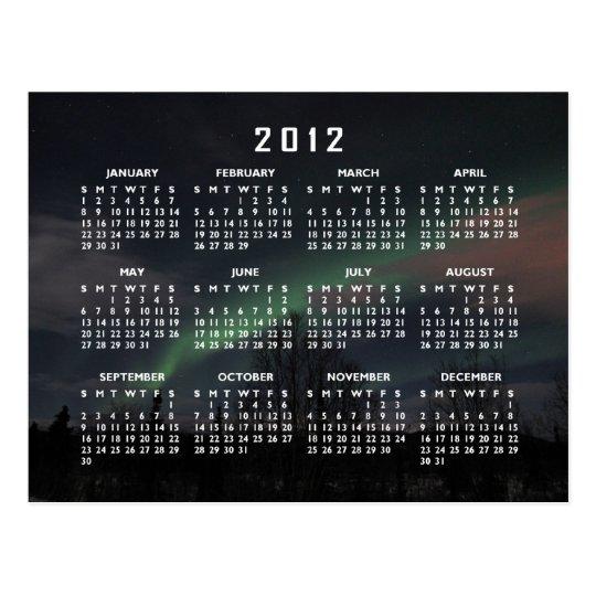 Northern Lights in Boreal Forest; 2012 Calendar Postcard