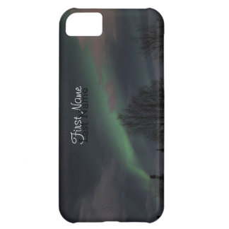 Northern Lights in Boreal Forest; Customizable iPhone 5C Cover