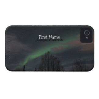 Northern Lights in Boreal Forest; Customizable iPhone 4 Case-Mate Case