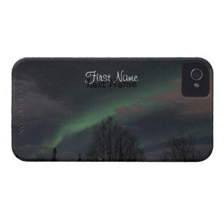Northern Lights in Boreal Forest; Customizable iPhone 4 Cover