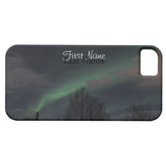 Northern Lights in Boreal Forest; Customizable iPhone SE/5/5s Case