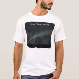 Northern Lights in Boreal Forest; Customizable T-Shirt