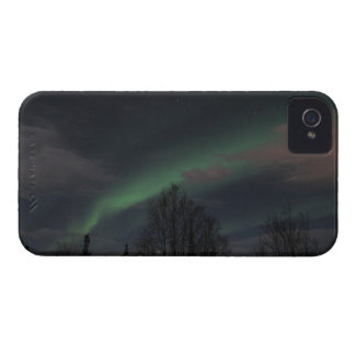 Northern Lights in Boreal Forest iPhone 4 Cover