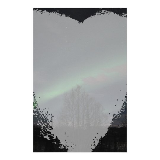 Northern Lights in Boreal Forest Stationery