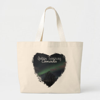 Northern Lights in Boreal Forest; Yukon Souvenir Canvas Bag
