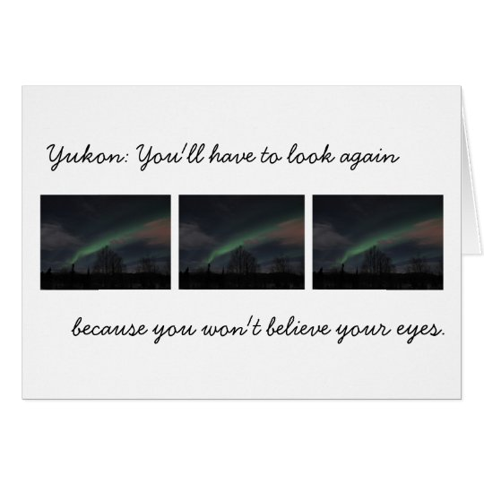 Northern Lights in Boreal Forest; Yukon Souvenir Card