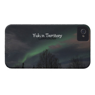 Northern Lights in Boreal Forest; Yukon Souvenir iPhone 4 Cover