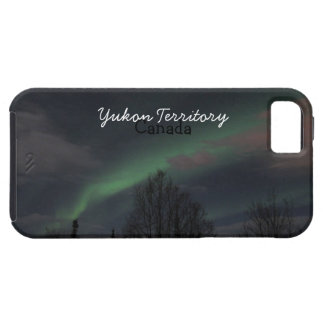 Northern Lights in Boreal Forest; Yukon Souvenir iPhone SE/5/5s Case