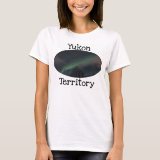 Northern Lights in Boreal Forest; Yukon Souvenir T-Shirt