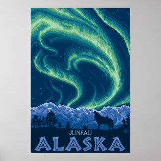 Northern Lights - Juneau, Alaska Poster