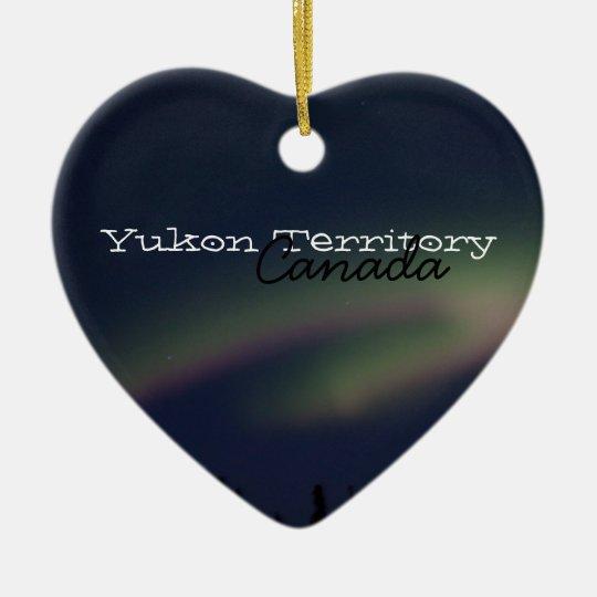 Northern Lights Loop; Yukon Territory Souvenir Ceramic Ornament