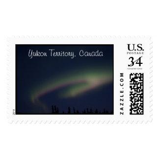 Northern Lights Loop; Yukon Territory Souvenir Postage
