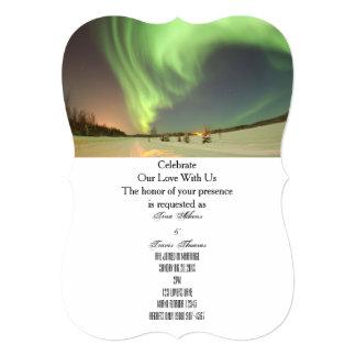 Northern Lights Menu Wedding Party Guests Bridal Card