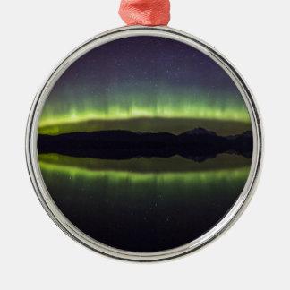 Northern lights metal ornament