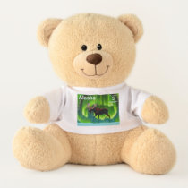Northern Lights Moose - Alaska Postage Teddy Bear