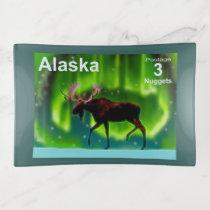 Northern Lights Moose - Alaska Postage Trinket Trays