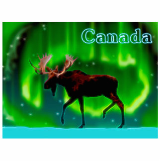 Northern Lights Moose - Canada Statuette