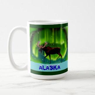 Northern Lights Moose Mug