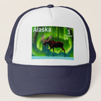 Northern Lights Moose Trucker Hat