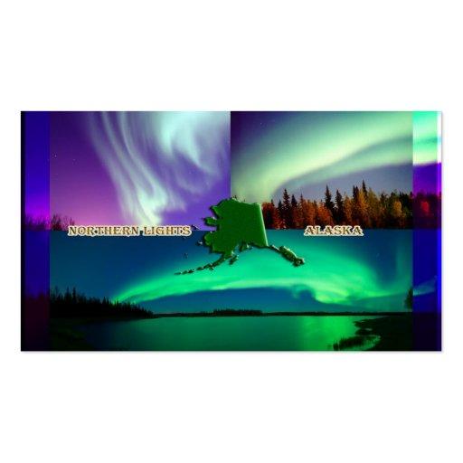 Northern Lights of Alaska Collage Business Card Templates