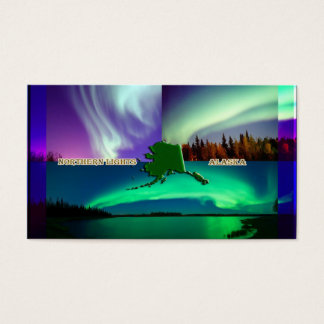 Northern Lights of Alaska Collage Business Card