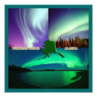 Northern Lights of Alaska Collage Personalized Invites