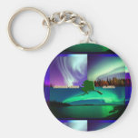 Northern Lights of Alaska Collage Key Chain