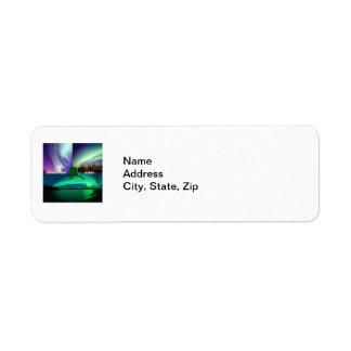 Northern Lights of Alaska Collage Label