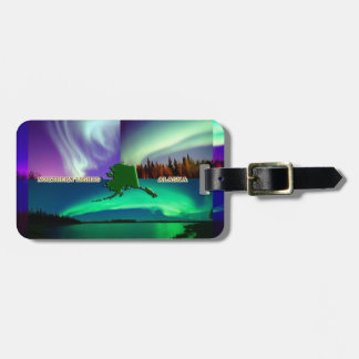 Northern Lights of Alaska Collage Luggage Tag