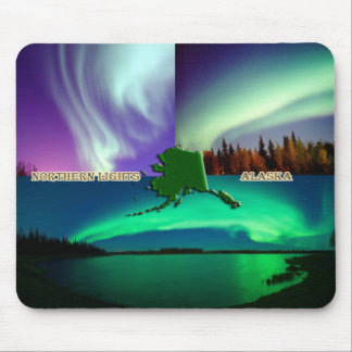 Northern Lights of Alaska Collage Mouse Pad