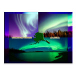Northern Lights of Alaska Collage Postcard