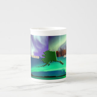 Northern Lights of Alaska Collage Tea Cup