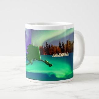 Northern Lights of Alaska Collage 20 Oz Large Ceramic Coffee Mug