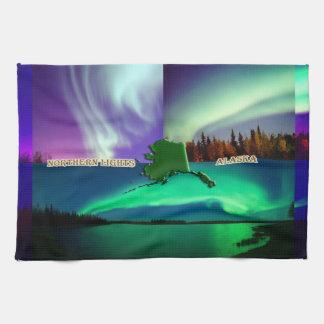 Northern Lights of Alaska Collage Towel