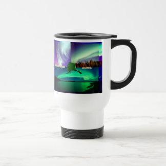 Northern Lights of Alaska Collage Travel Mug