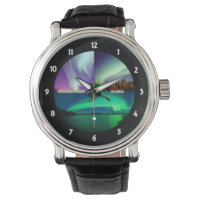 Northern Lights of Alaska Collage Wrist Watches