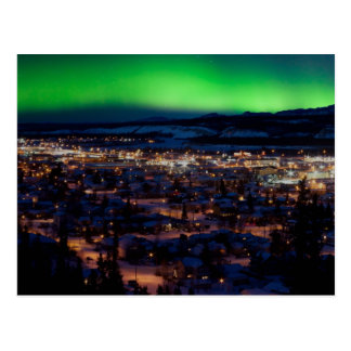 Northern Lights over Downtown Whitehorse Postcard