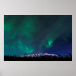 Northern Lights Over Mt Noulja Poster