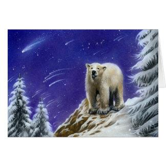 Northern Lights Pola Bear Greeting card
