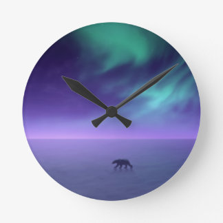 Northern Lights Round Clock