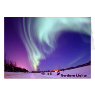 Northern Lights Shine in Alaskan Sky Greeting Card