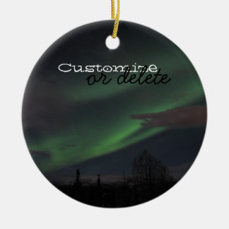 Northern Lights Show; Customizable Ceramic Ornament
