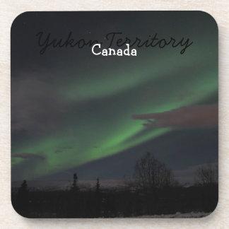 Northern Lights Show; Yukon Territory Souvenir Drink Coaster