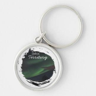 Northern Lights Show; Yukon Territory Souvenir Keychain
