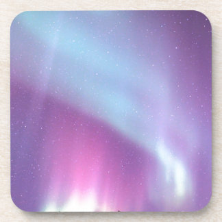 Northern Lights Sky Winter Alaska Stars Beverage Coaster